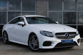 Mercedes-Benz E Class 2.0 E300 AMG Line 2dr 9G-Tronic Coupe Petrol WHITE at Yorkshire Vehicle Solutions York