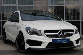 Mercedes-Benz CLA 2.0 CLA 45 4Matic 4dr Tip Auto Saloon Petrol White at Yorkshire Vehicle Solutions York