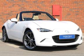 Mazda MX-5 2.0 Sport Nav 2dr Convertible Petrol White at Yorkshire Vehicle Solutions York