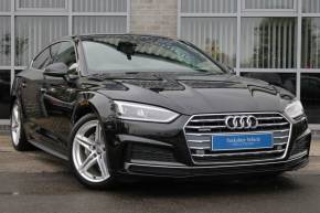 Audi A5 3.0 TDI 218 Quattro S Line 5dr S Tronic Hatchback Diesel Black at Yorkshire Vehicle Solutions York