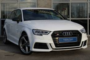 Audi S3 2.0 S3 TFSI Quattro Black Edition 5dr S Tronic Hatchback Petrol White at Yorkshire Vehicle Solutions York