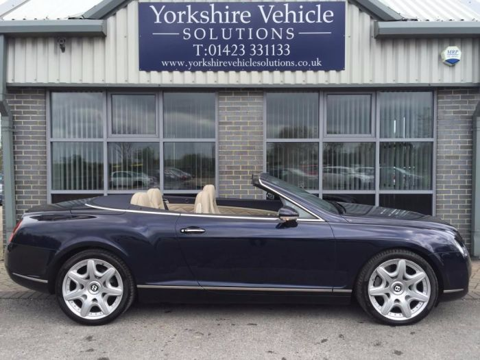 Bentley Continental GTC 6.0 W12 2dr Auto Convertible Petrol Blue