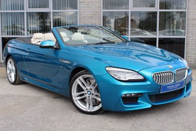 BMW 6 Series 4.4 650i [449] M Sport 2dr Auto Convertible Petrol Blue at Yorkshire Vehicle Solutions York