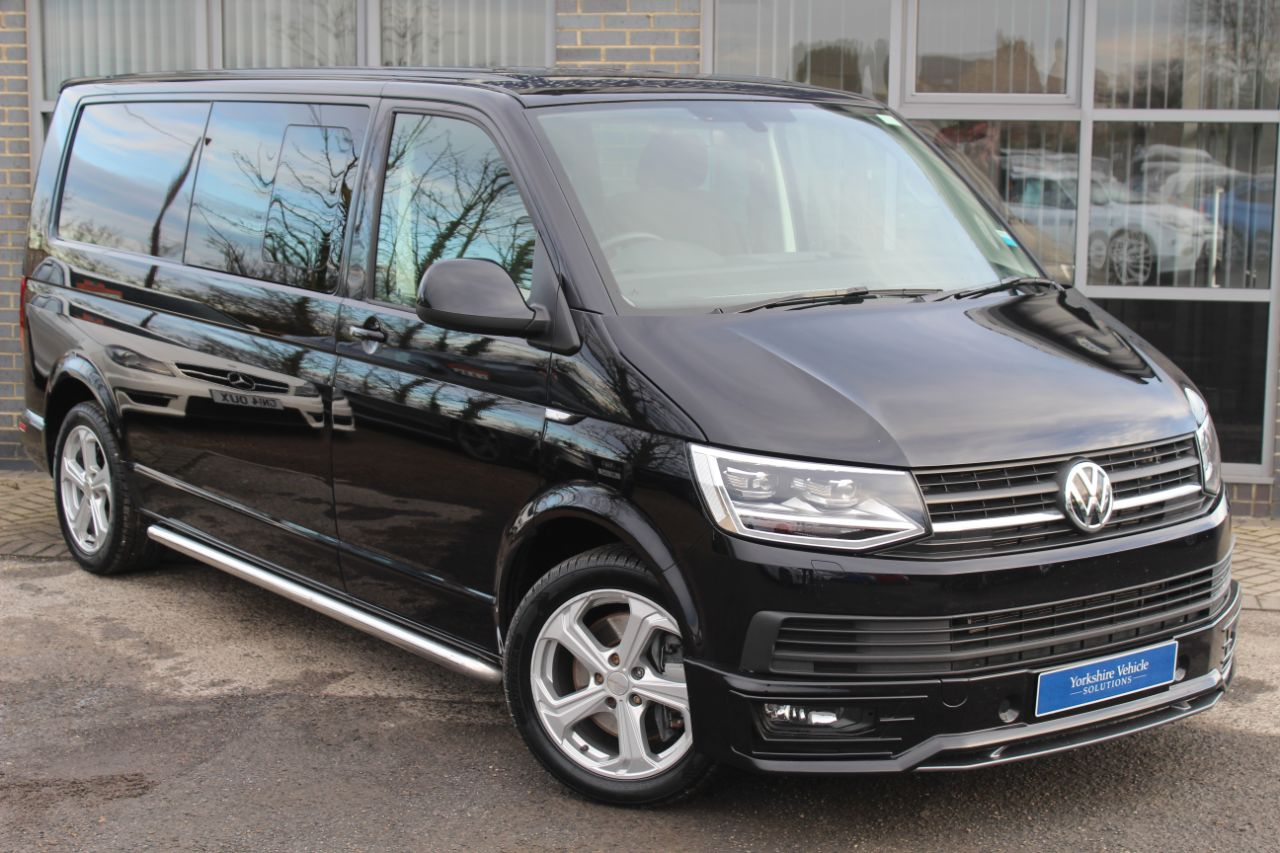 Volkswagen Transporter 2.0 TDI BlueMotion Tech T32 Highline DSG 204 PS Combi Van Diesel Black at Yorkshire Vehicle Solutions York
