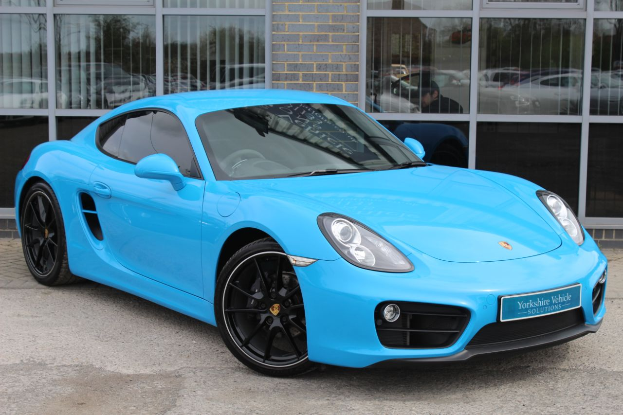 Porsche Cayman 2.7 PDK Coupe Petrol Blue at Yorkshire Vehicle Solutions York