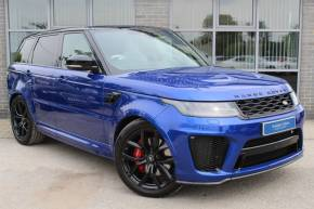 Land Rover Range Rover Sport 5.0 V8 Supercharged SVR Auto Estate Petrol Blue at Yorkshire Vehicle Solutions York