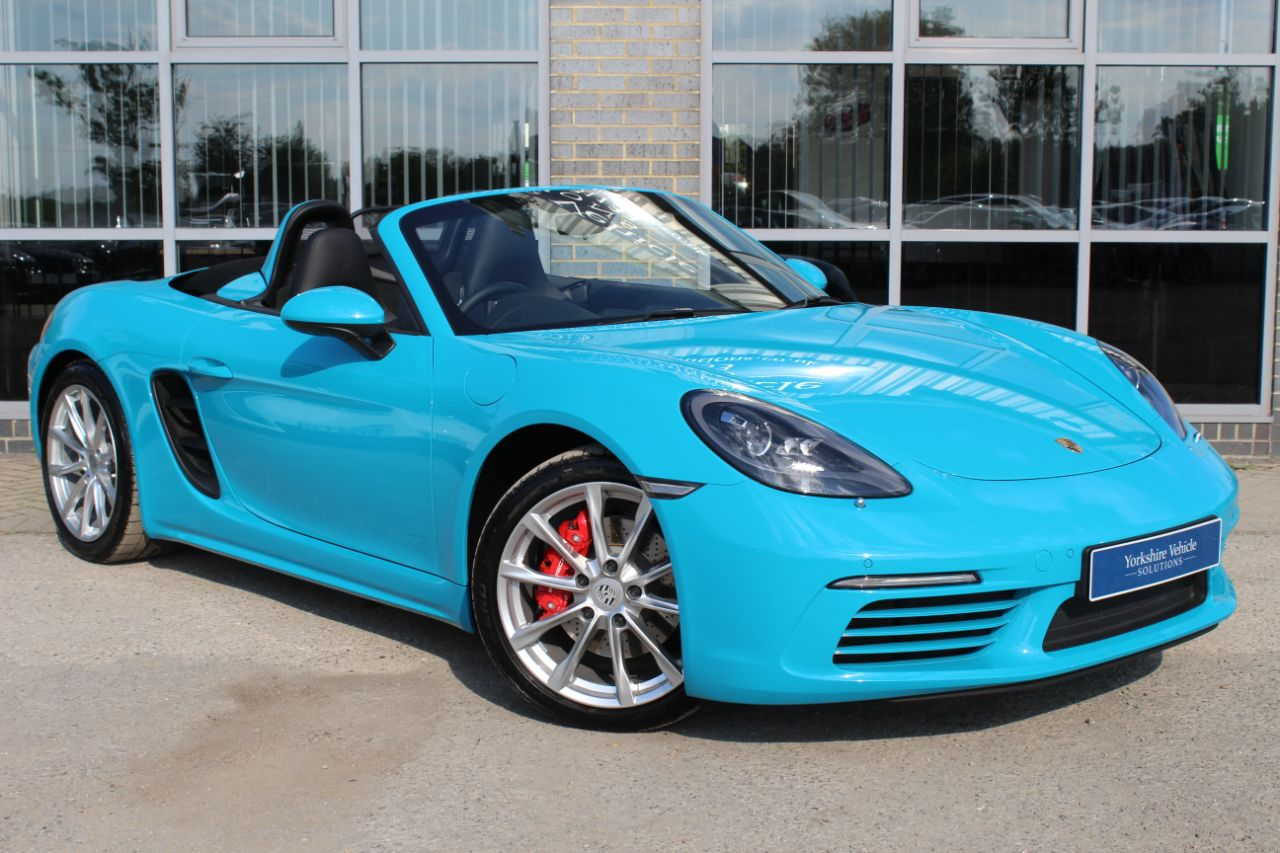 Porsche Boxster 2.5 S PDK Convertible Petrol Blue at Yorkshire Vehicle Solutions York