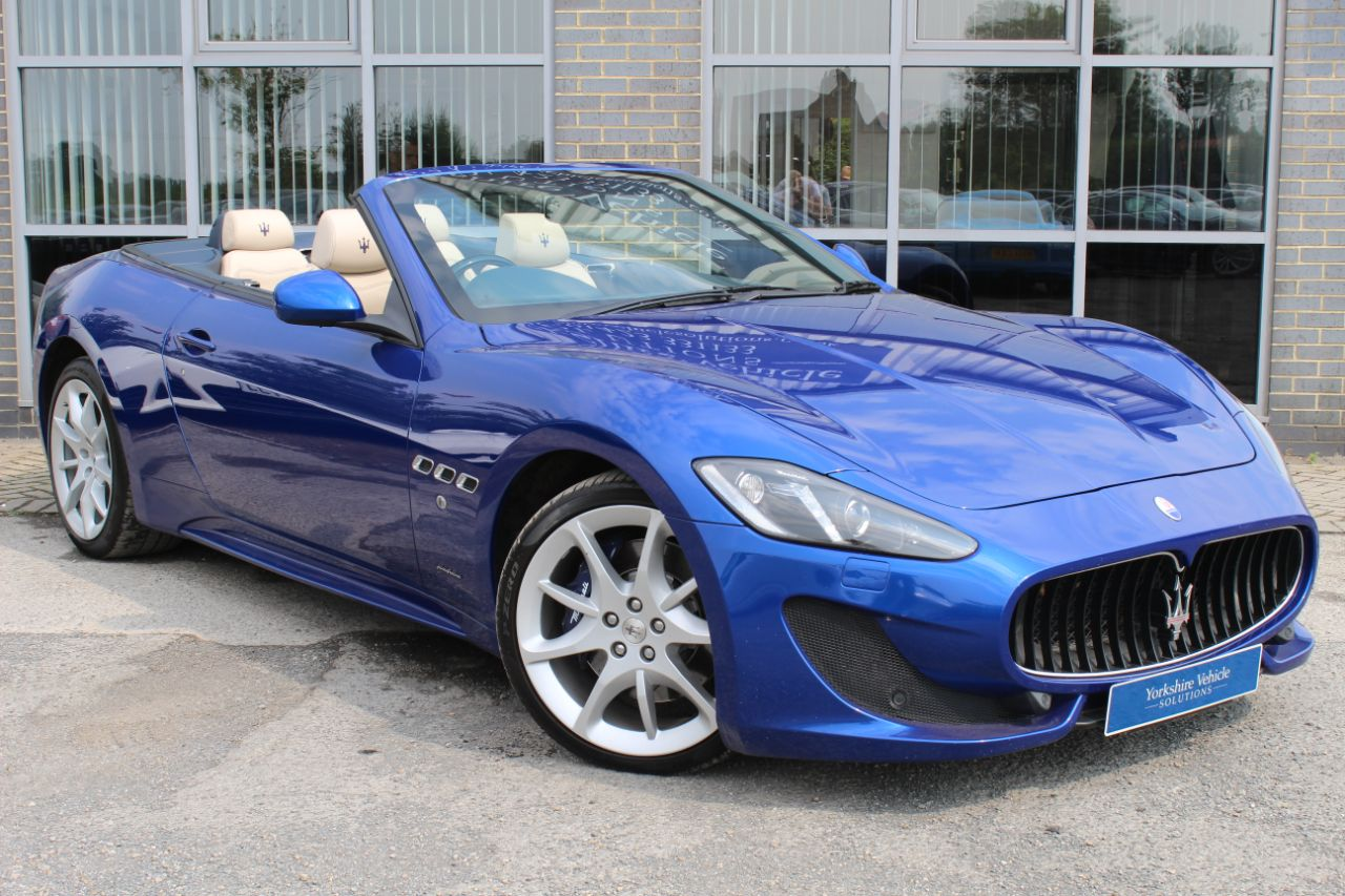 Maserati Grancabrio 4.7 V8 Sport 2dr MC Shift Convertible Petrol Blue at Yorkshire Vehicle Solutions York