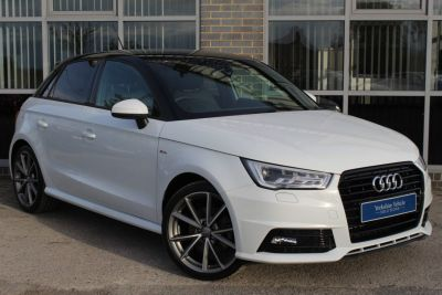 Audi A1 1.4 TFSI Black Edition 5dr Hatchback Petrol White at Yorkshire Vehicle Solutions York