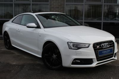 Audi S5 3.0 TFSI Quattro S Tronic Coupe Petrol White at Yorkshire Vehicle Solutions York