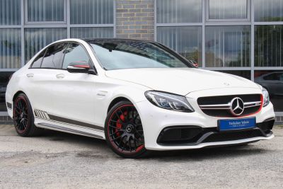 Mercedes-Benz C Class C63 S Edition 1 4.0 V8 Bi Turbo Auto Saloon Petrol White at Yorkshire Vehicle Solutions York